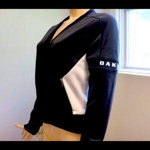 NWT Women's Oakley Black and White Bomber Jacket